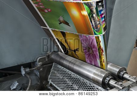 Large webset offset printing machine