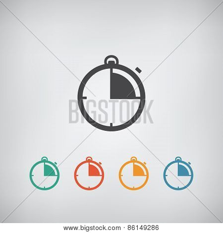 Stopwatch Icon, Vector Illustration.