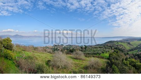 Whole View Of Lake Of Bracciano