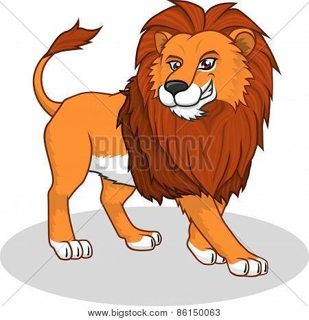 High Quality Lion Vector Cartoon Illustration