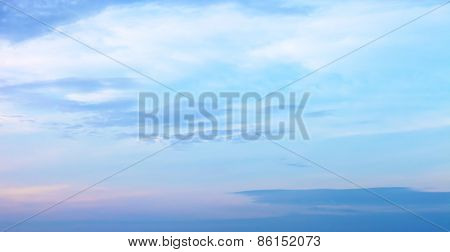sky background with a nice sunset cloud