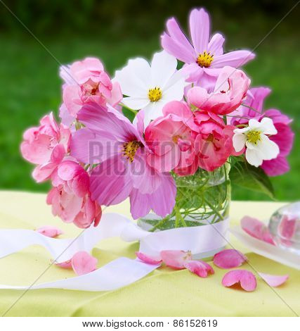 Pink Cosmea Bouquet