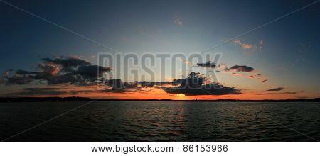 Panoramic Beautiful Sunset