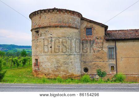 Castle of Folignano. Ponte dell'Olio. Emilia-Romagna. Italy.