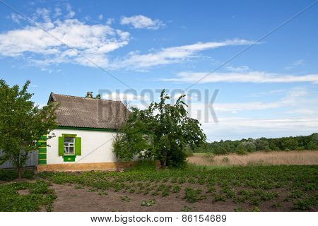 Traditional Village House With A Garden