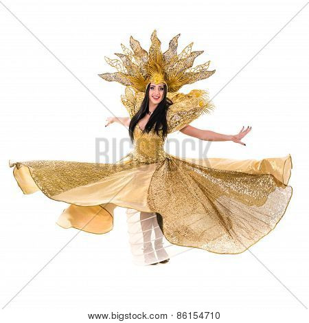 carnival dancer woman dancing with crown
