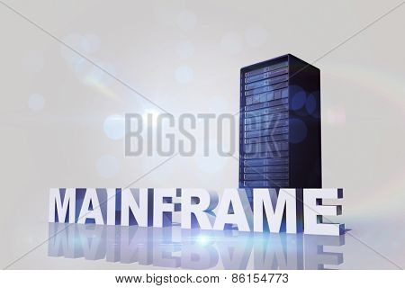 mainframe against server tower