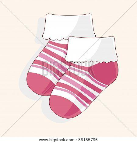 Baby Socks Theme Elements