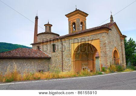 Madonna della Neve Church. Riva. Emilia-Romagna. Italy.