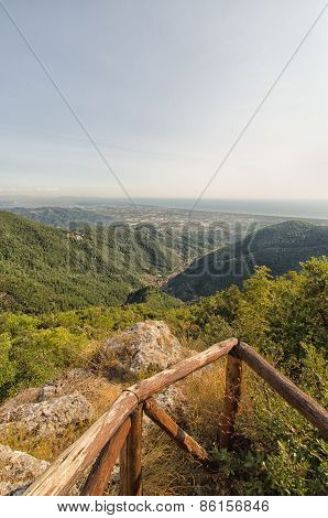 Lovely view of tuscany coast from Apuan Alps