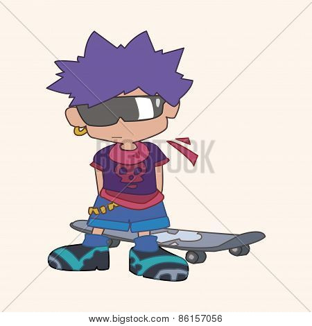 Skater Boy Theme Elements