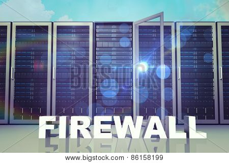firewall against blue sky