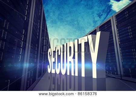 security against painted blue sky