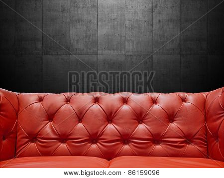 Segment Leather Sofa Upholstery With Copyspace