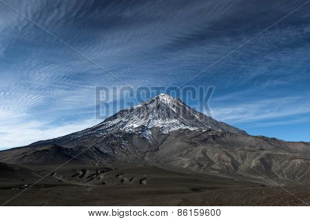 Landscape Of Kamchatka: Koryaksky Volcano On Kamchatka Peninsula, Russia