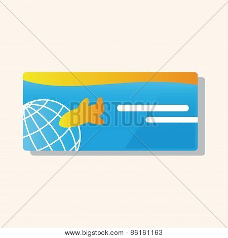 Air Ticket Theme Elements