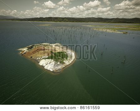 Aerial View of Gatun Lake, Panama Canal