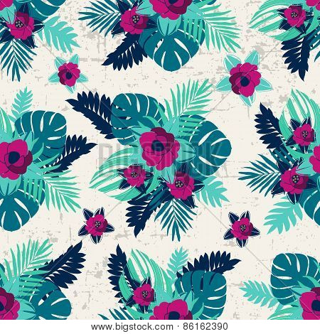 Seamless tropical jungle pattern