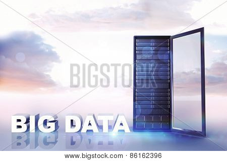 big data against heavenly sky