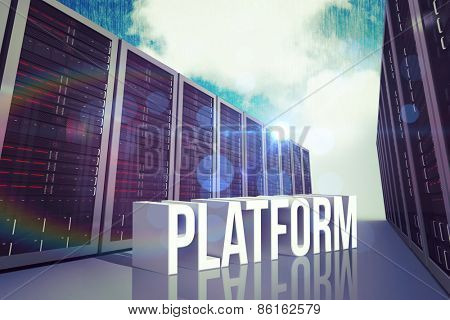 platform against blue sky