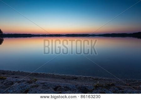 Lake After Sunset.