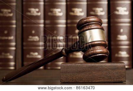 Justice Gavel on desk
