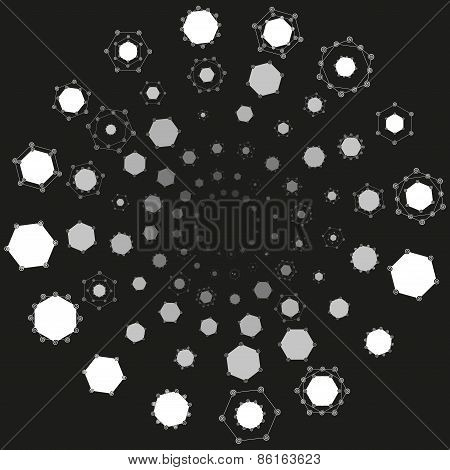 flat molecule space atom model