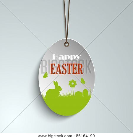 Easter Pendulous Label With Bunny