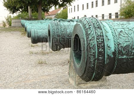 Antique Ornamented Cannon Barrels