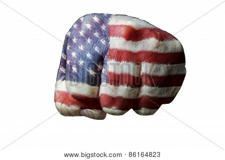American Flag On Left Fist