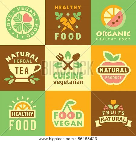 Fresh Organic Labels and Elements,icons