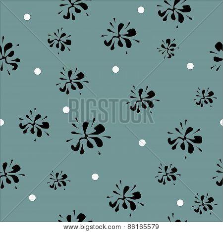 blot-flower pattern design