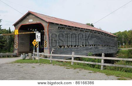 Covered Bridge Of Saint Adalbert, Quebec