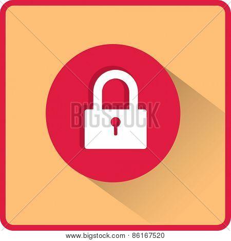 Flat Vector Lock Icon