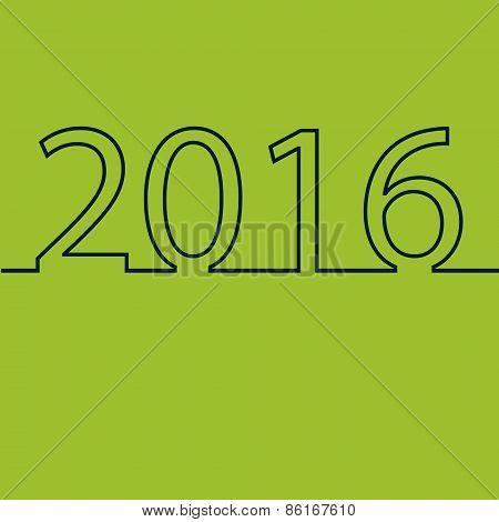 Happy new year 2016 creative greeting card design