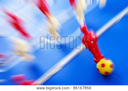 Foosball player Motion blur