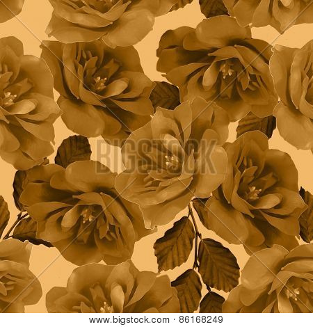 art vintage floral seamless pattern  with roses on background