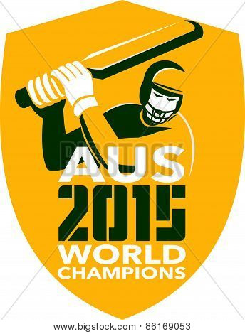 Australia Cricket 2015 World Champions Shield