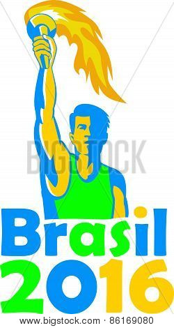 Brasil 2016 Summer Games Athlete Torch
