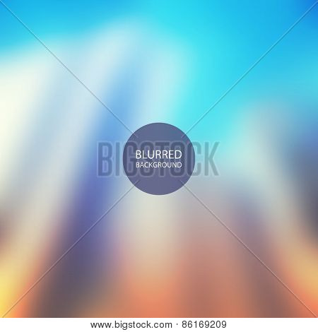 Abstract Background - Blurred Image - Blue and Orange
