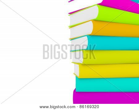Stack Of 3D Book With Multiple Cover