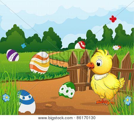 Easter Scene Background