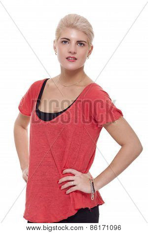 Pretty Woman In Red Clothing