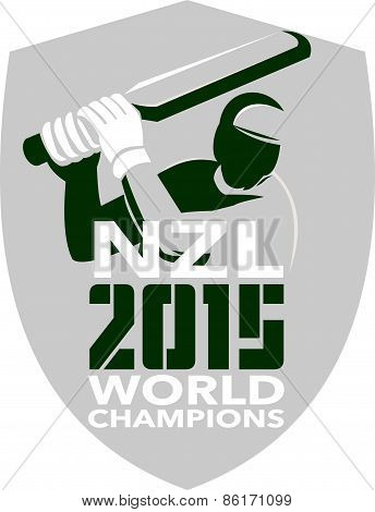New Zealand Cricket 2015 World Champions Shield