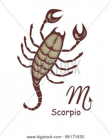 Decorative scorpio