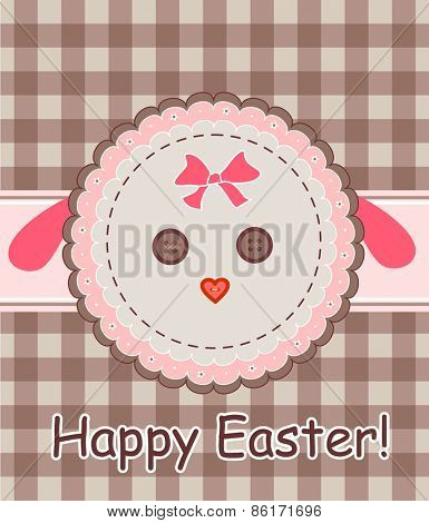 Easter napkin with sheep