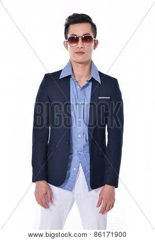 Portrait of young businessman. Vertical shot.