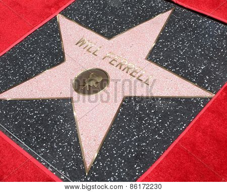 LOS ANGELES - MAR 24:  Will Ferrell's Star at the Will Ferrell Hollywood Walk of Fame Star Ceremony at the Hollywood Boulevard on March 24, 2015 in Los Angeles, CA