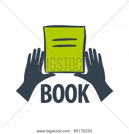 Vector Icon Hand Holding A Book