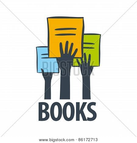 Vector Icon Hands Holding A Books